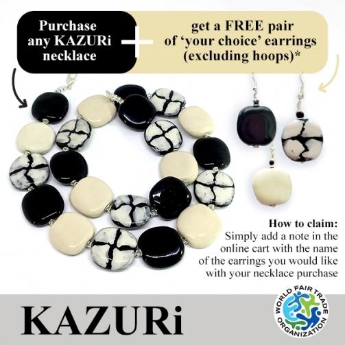 KAZU Ri Necklaces Black Giraffe Pitapat