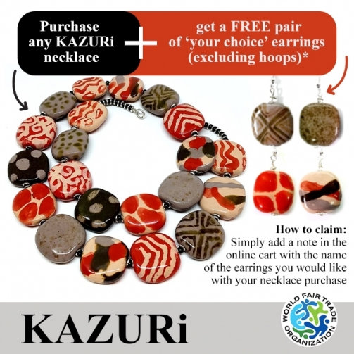 KAZU Ri Necklaces Coral Pitapat