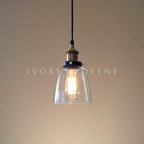 LUCY GLASS PENDANT LIGHT BRASS