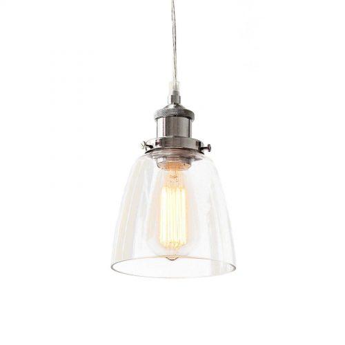 LUCY GLASS PENDANT LIGHT CHROME 2