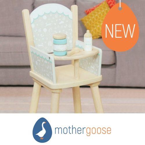Mother Goose indigo jamm dolls high chair
