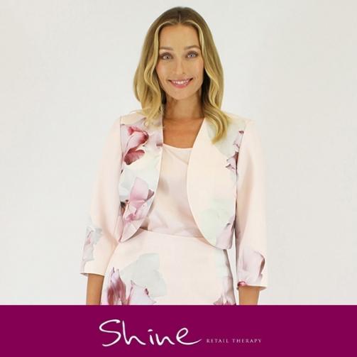 Shine Light Pink Floral Jacket