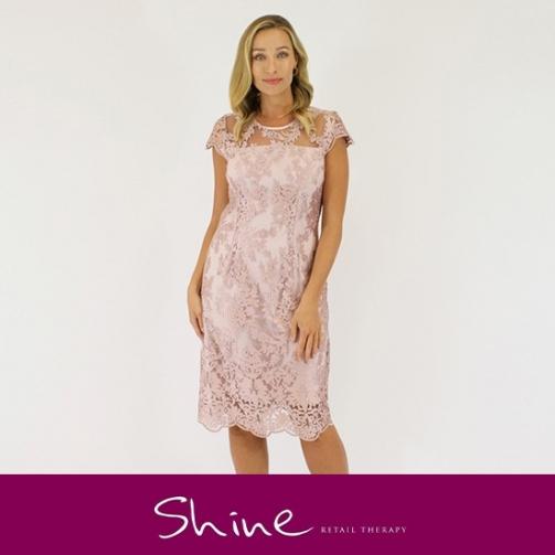 Shine Pastel Pink Lace Dress