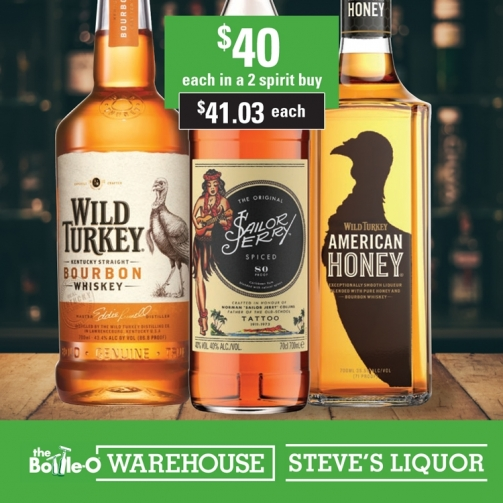 Steves Wild Turkey Sailor Jerry American Honey