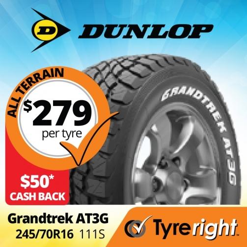 Tyre Right Dunlop Grandtrek AT3 G