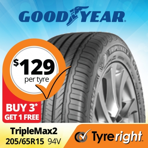Tyre Right Good Year Triple Max2