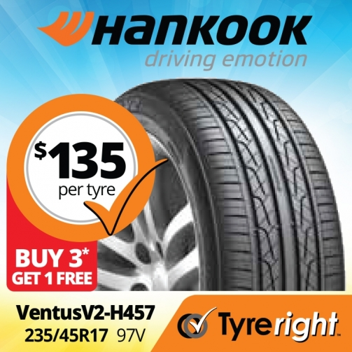 Tyre Right Hankook Ventus V2 H457