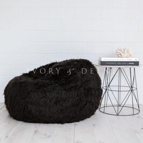 Black fur bean bag polo 1 2 1600x1600