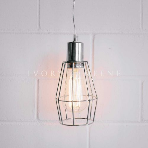 Chrome wire cage pendant ivory and deene 4 1600x1600