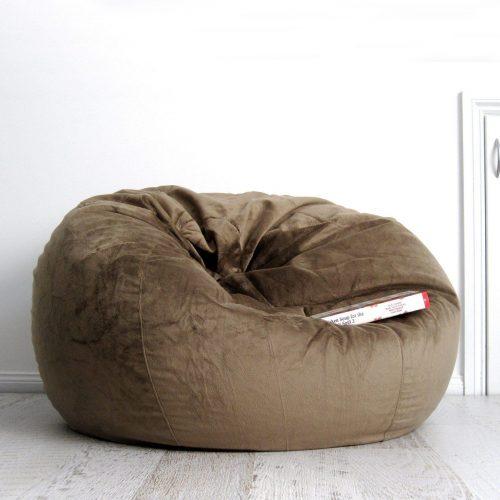 Coffee fur beanbag ivory and deene 1800x1800