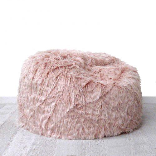 Dusty blush pink fur beanbag cover cotton tail 1600x1600