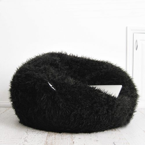 Fur beanbag black polo 1600x1600