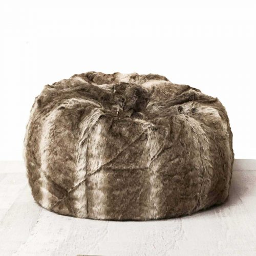 Fur beanbag palomino ivory and deene IVD494 1800x1800