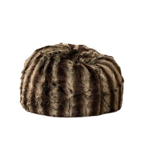 Fur beanbag sable ivory and deene IVD485 1800x1800