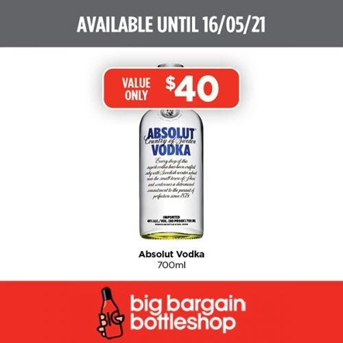 BBB Absolut Vodka 700ml