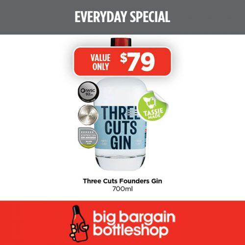 BBB Three Cuts Founders Gin 700ml