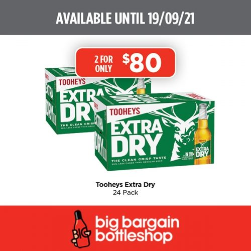 BBB Tooheys Extra Dry 24 Pack