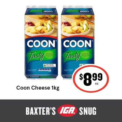 Baxters IGA Shop Tasmania Coon Cheese 1kg