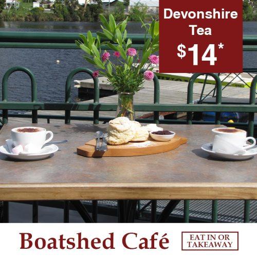 Boatshed Cafe Devonshire Tea
