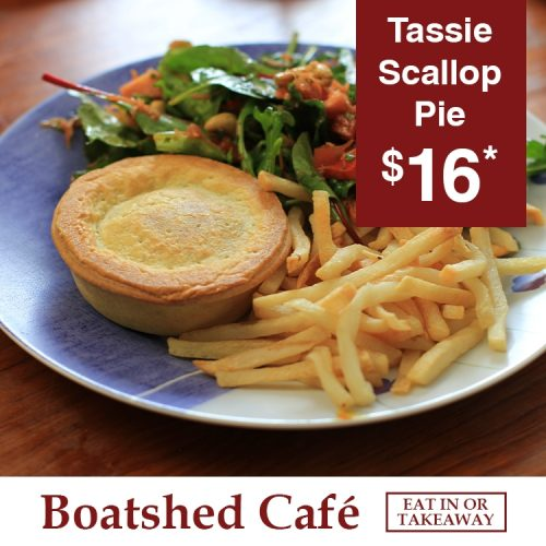 Boatshed Cafe Scallop Pie