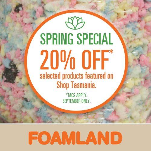 Foamland Spring Special