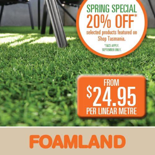 Foamland turf offer