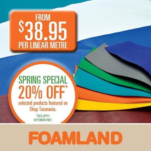 Foamland vinyl offer