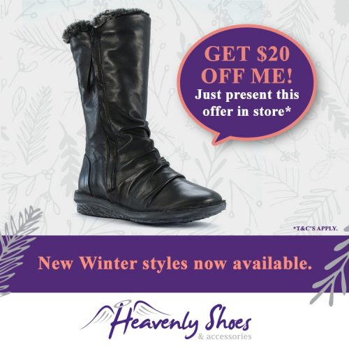 Heavenly Shoes Black Turnist
