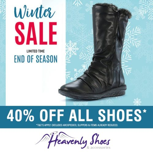 Heavenly Shoes Winter Turnist Black
