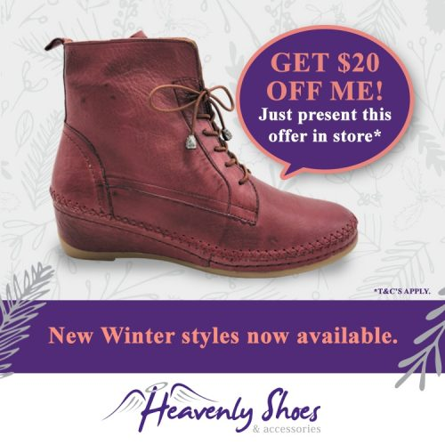 Heavenly Shoes Witney Burgundy