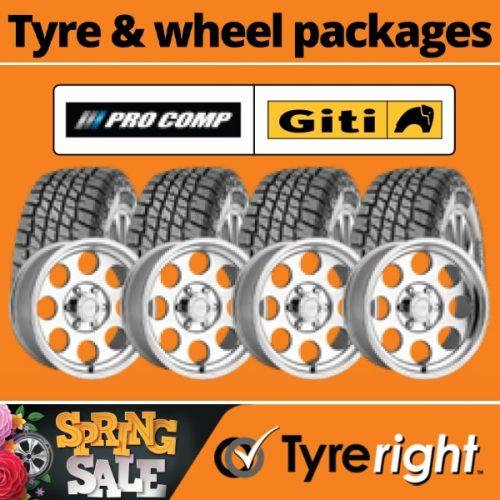 Offer Tyre Wheel Package2 Pro Comp Giti