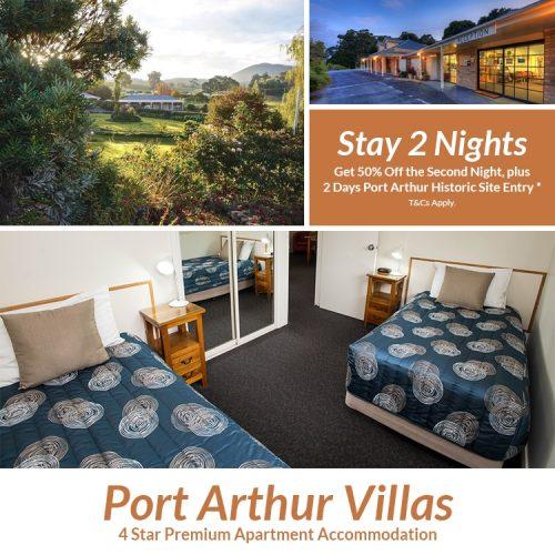 Port Arthur Villas Offer Accommodation