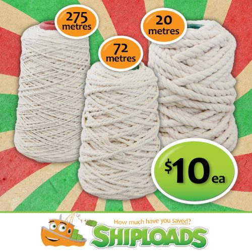 SHP Macrame Cotton Rope Natural