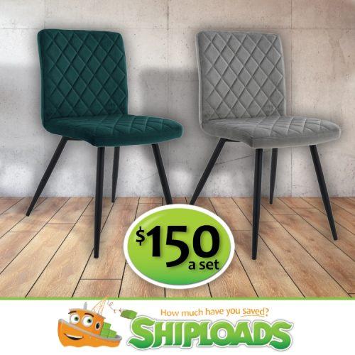 SHP Velvet Dining Chairs 2
