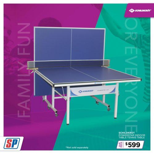 SP21 025 Family Fun Schildkrot Powerstar Indoor Table Tennis Table