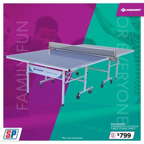 SP21 025 Family Fun Schildkrot Powerstar Outdoor Table Tennis Table