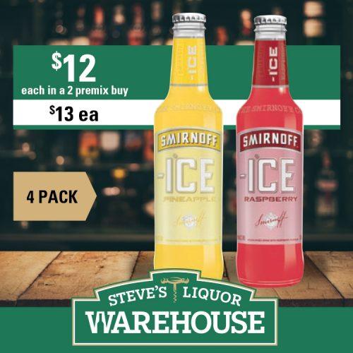 Steves Smirnoff Ice 4 Pack