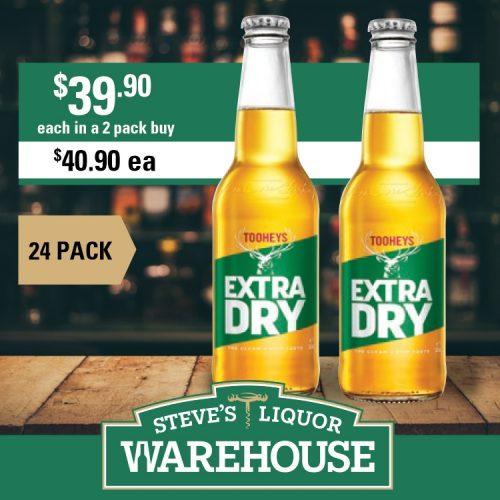 Steves Tooheys Extra Dry