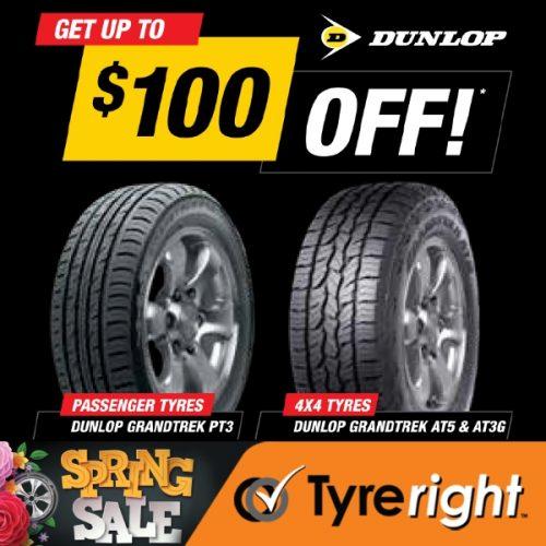 TR Dunlop Tyre Offer