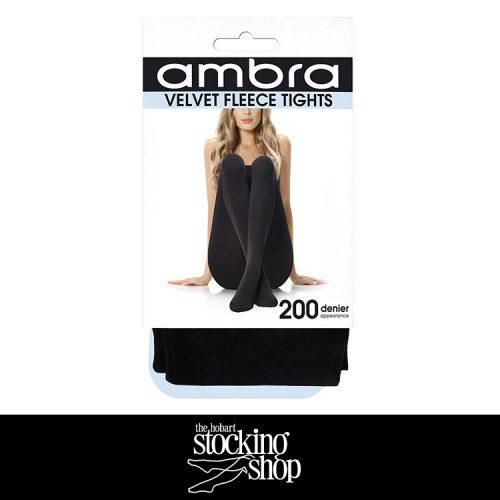 The Stocking Shop Ambra Velvet Fleece Tights