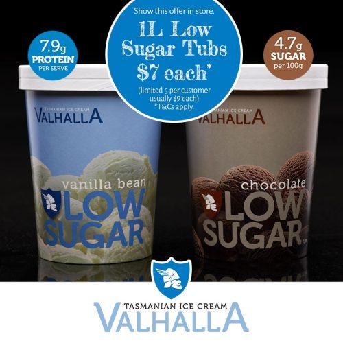 Valhalla Icecream Low Sugar