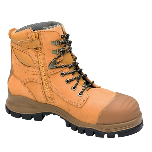 268_Blundstone_Zip Side_Safety Boot_Wheat