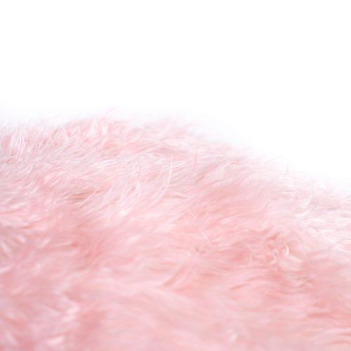 IVD539-soft-pink-fur-bean-bag-polo-detail