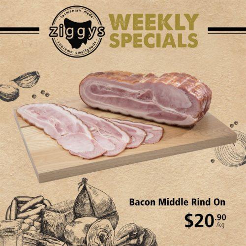 Ziggys Bacon Middle Rind 20 90
