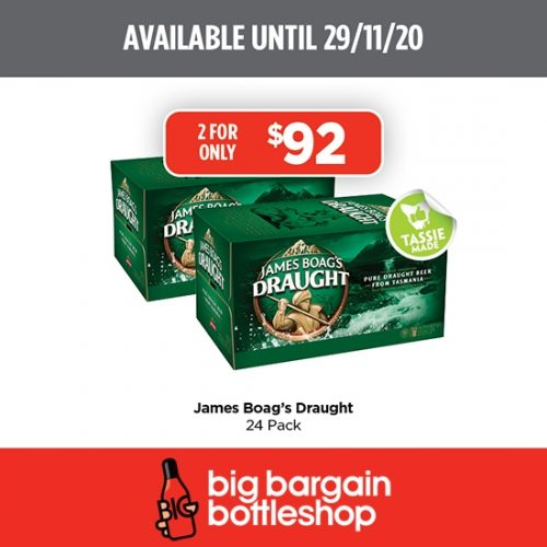 BBB James Boags Draught 24 Pack