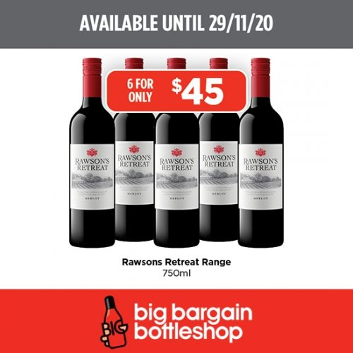 BBB Rawsons Retreat Wine Range