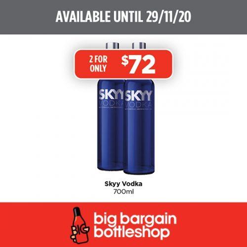 BBB Skyy Vodka 700ml