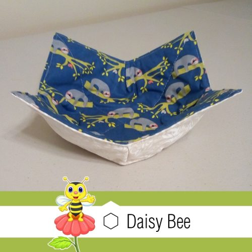 Daisy Bee Bowl Cosies Blue Sloth