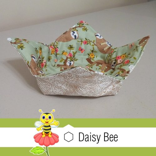 Daisy Bee Bowl Cosies Green Sloth