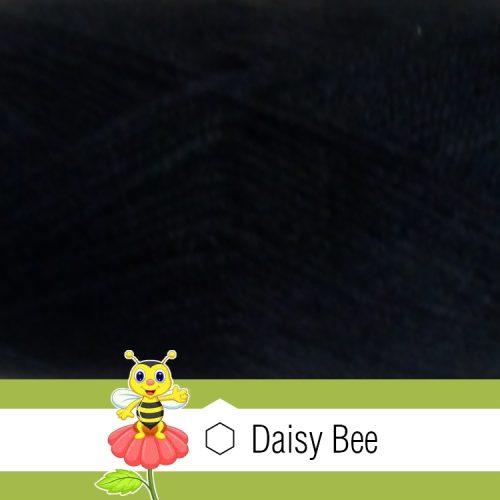 Daisy Bee Twist Turban Black